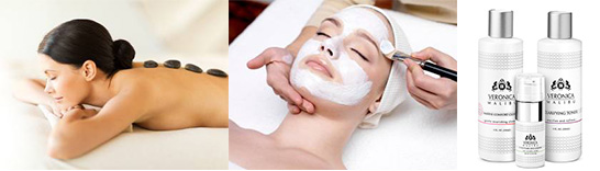 spa treatments and exclusive product lines