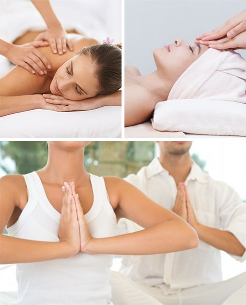 relaxing massages, soothing facials and yoga