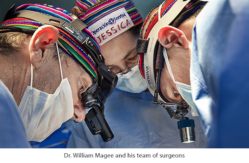 Dr. William Magee and his team of surgeons